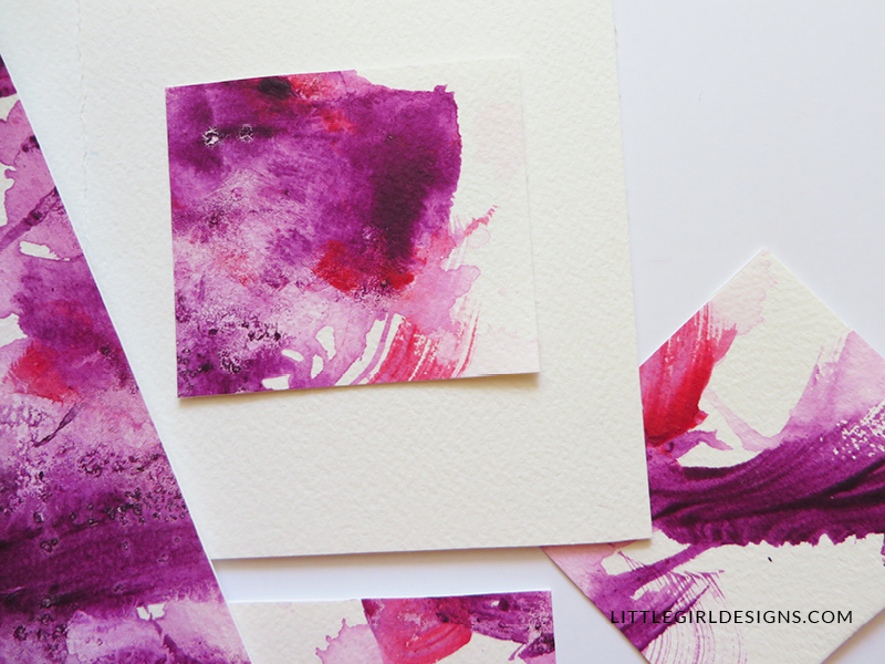 Learn how to make these beautiful watercolor cards -- they're simple enough that a toddler can do them. I LOVE these! :)