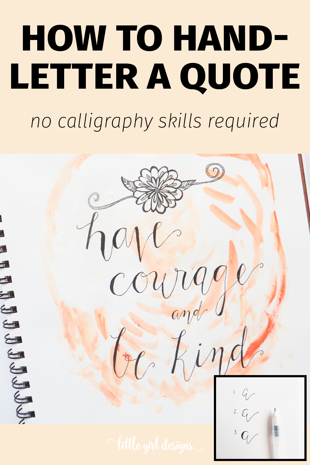 How To Faux Hand Letter A Quote Jennie Moraitis