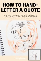 How to Faux Hand Letter a Quote