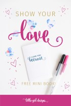 Here's a Valentine's Day Mini Book for You!
