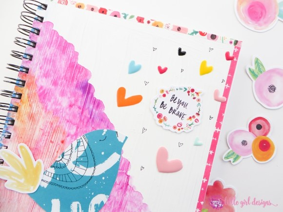 Learn how to make a simple art journal cover using DaySpring's Illustrated Faith line. This is such a simple art-journaling project and is perfect for a beginner.