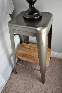 Industrial Stool Nightstands - Little Glass Jar