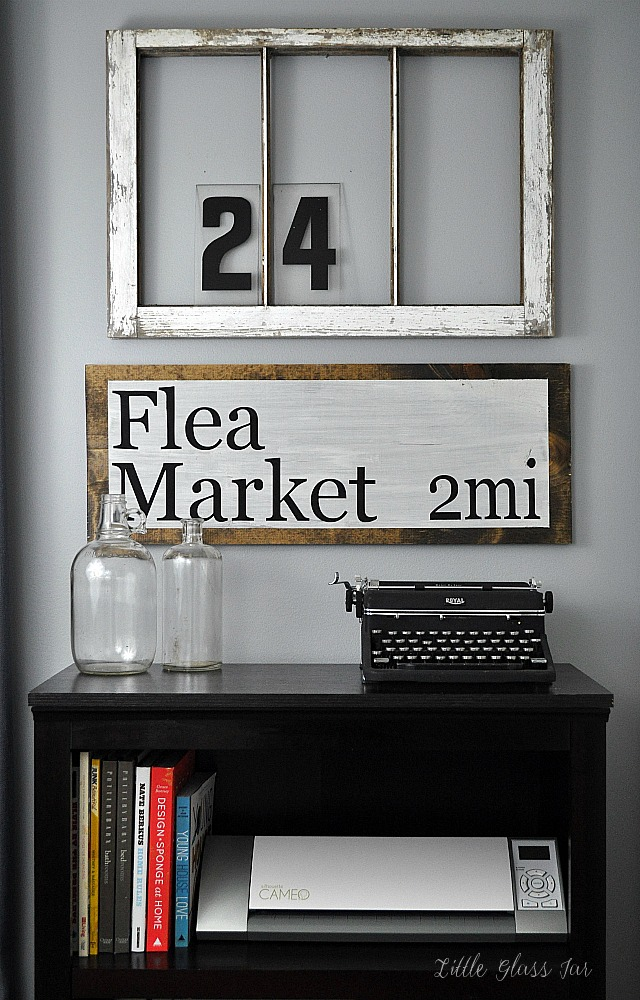 DIY Flea Market Sign