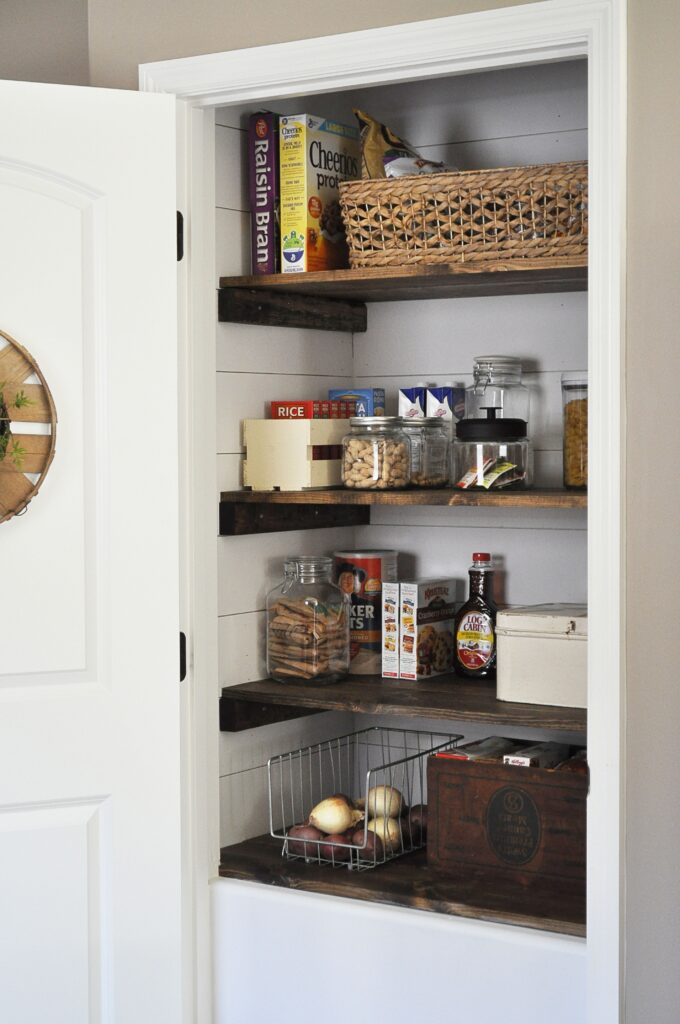 Farmhouse Pantry Makeover via Little Glass Jar