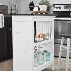 Kitchen Bookshelf Best Knobs Island Little Glass Jar Diy Via