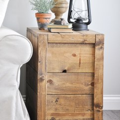 Diy Living Room Side Tables Kitchen Design Crate Little Glass Jar Make These Rustic Farmhouse Style For Your Or Bedroom
