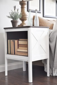 Farmhouse Side Table Makeover + GIVEAWAY - Little Glass Jar