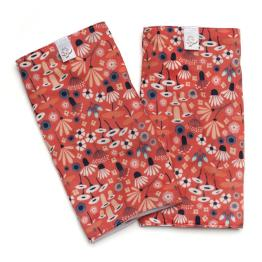 pink wildflowers teething pads