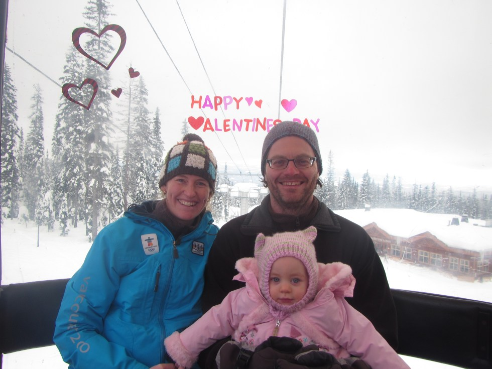 Valentine's day gondola at Big White