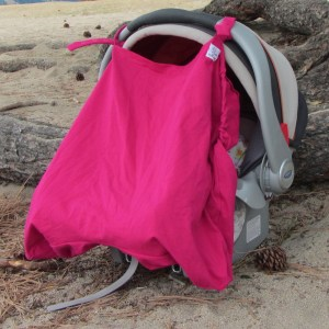 Baby carrier cover sun cover on car seat