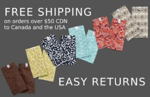 Free shipping on orders over $50 CDN to Canada and the USA