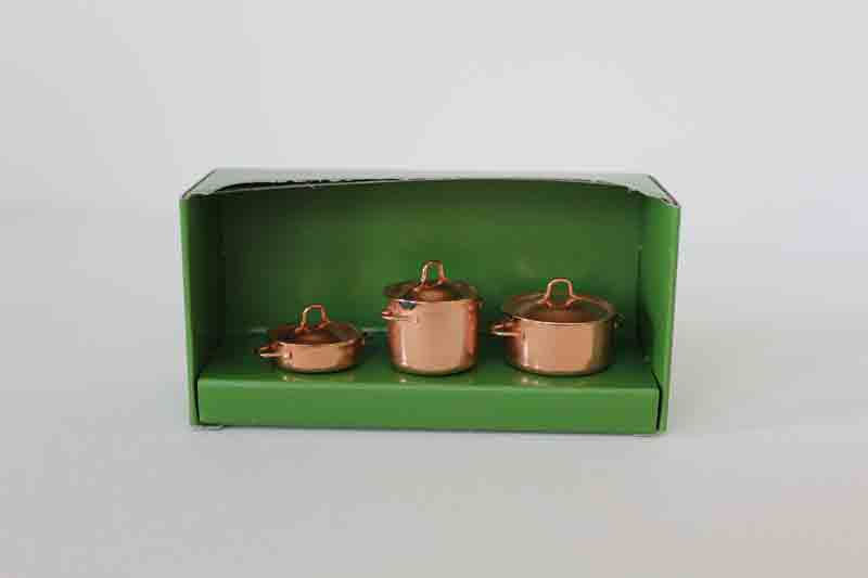 Dollhouse Copper Pots by Bodo Hennig  Little Goose Toys