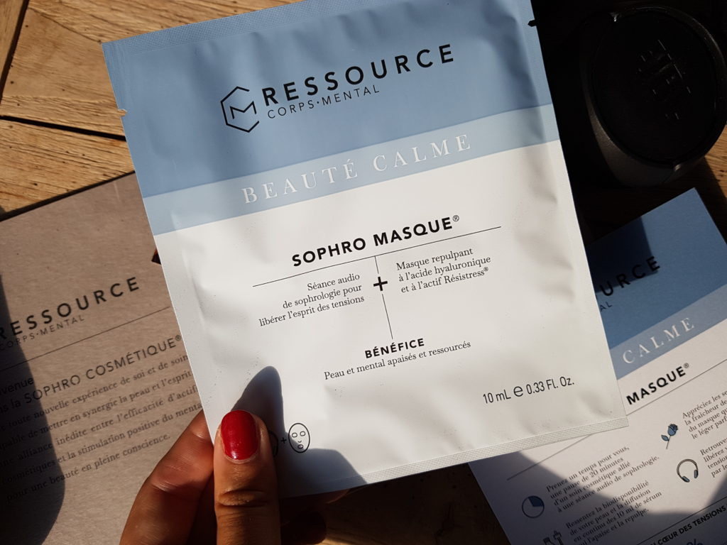 sophro masque acide hyaluronique sophrologie cosmétique