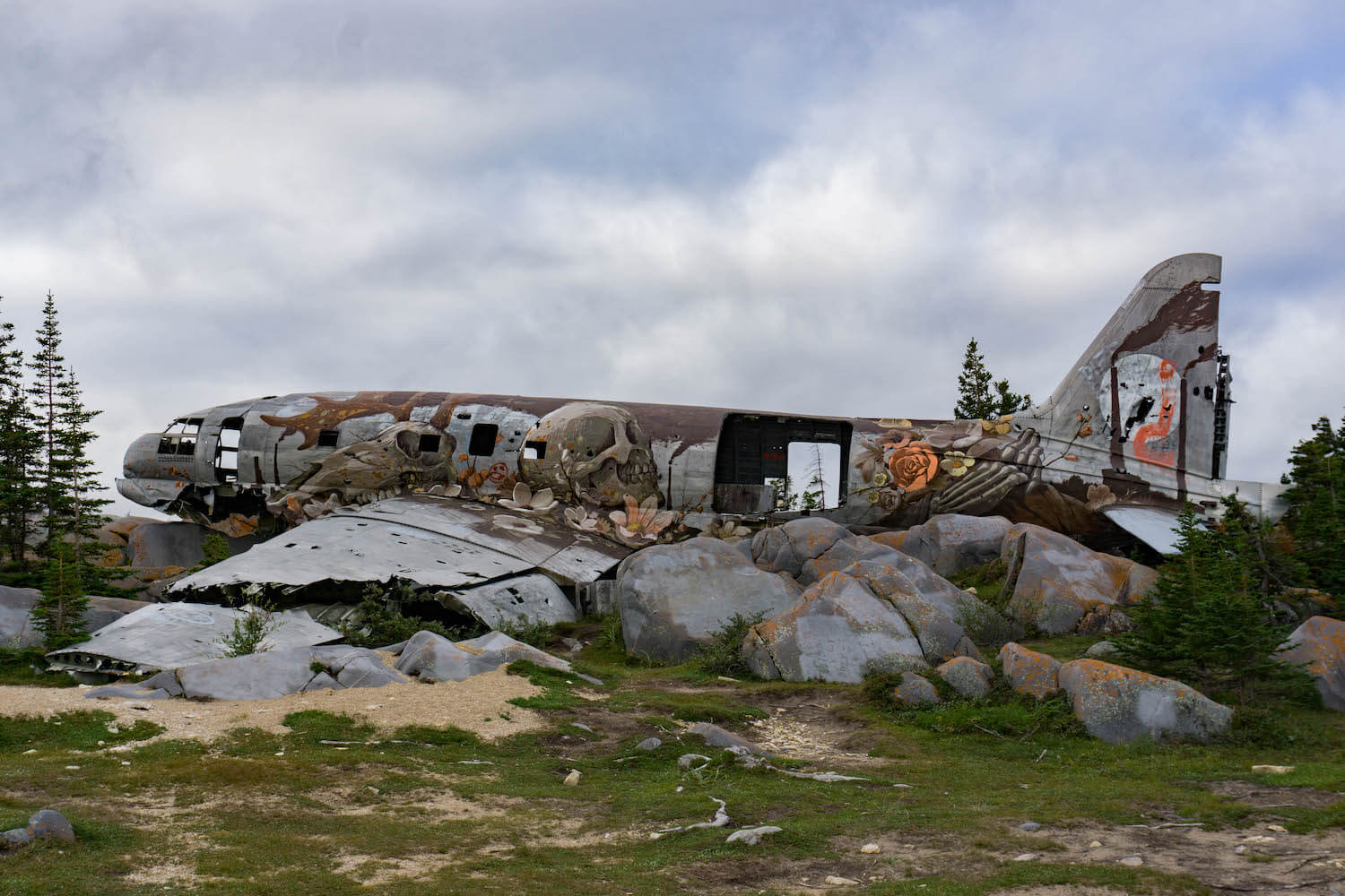 Miss-Piggy-plane-mural-painting-about-climate-change-Churchill-Manitoba (1 of 1)