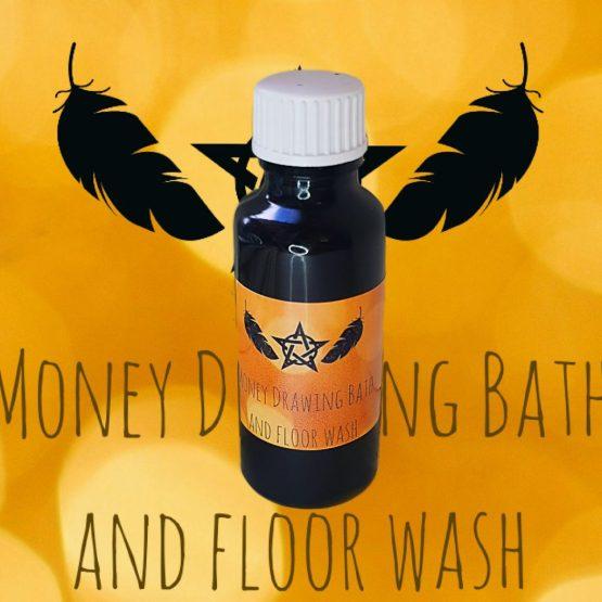money drawing bath wash