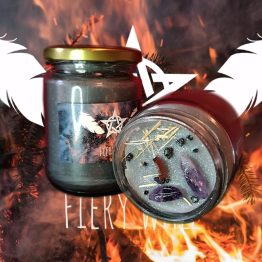 fiery wall conjure candle