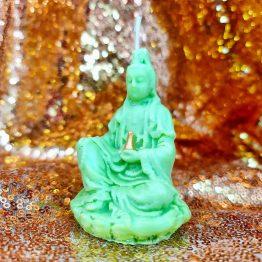 lucky jade buddha candle