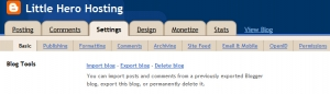 Blogger save posts and comments
