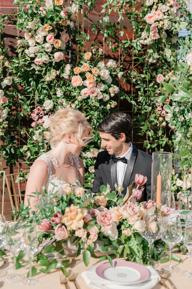 garden styled shoot at
