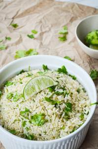If you're looking for an excellent side dish for Fajitas, Tacos, or Enchiladas, try this easy recipe for Instant Pot Cilantro Lime Rice!