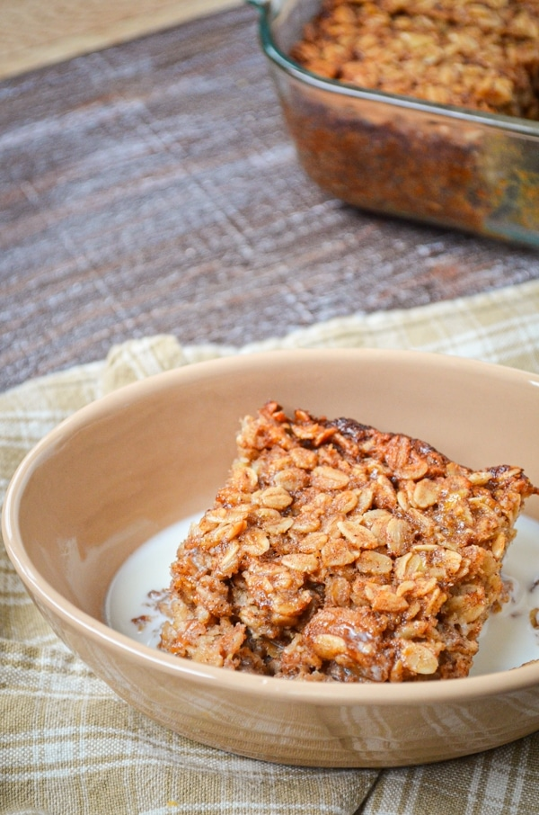 Get your day off to the right start with this healthy banana bread baked oatmeal recipe! Sweetened naturally using honey, and using whole food ingredients. It's a healthy breakfast the whole family can love.