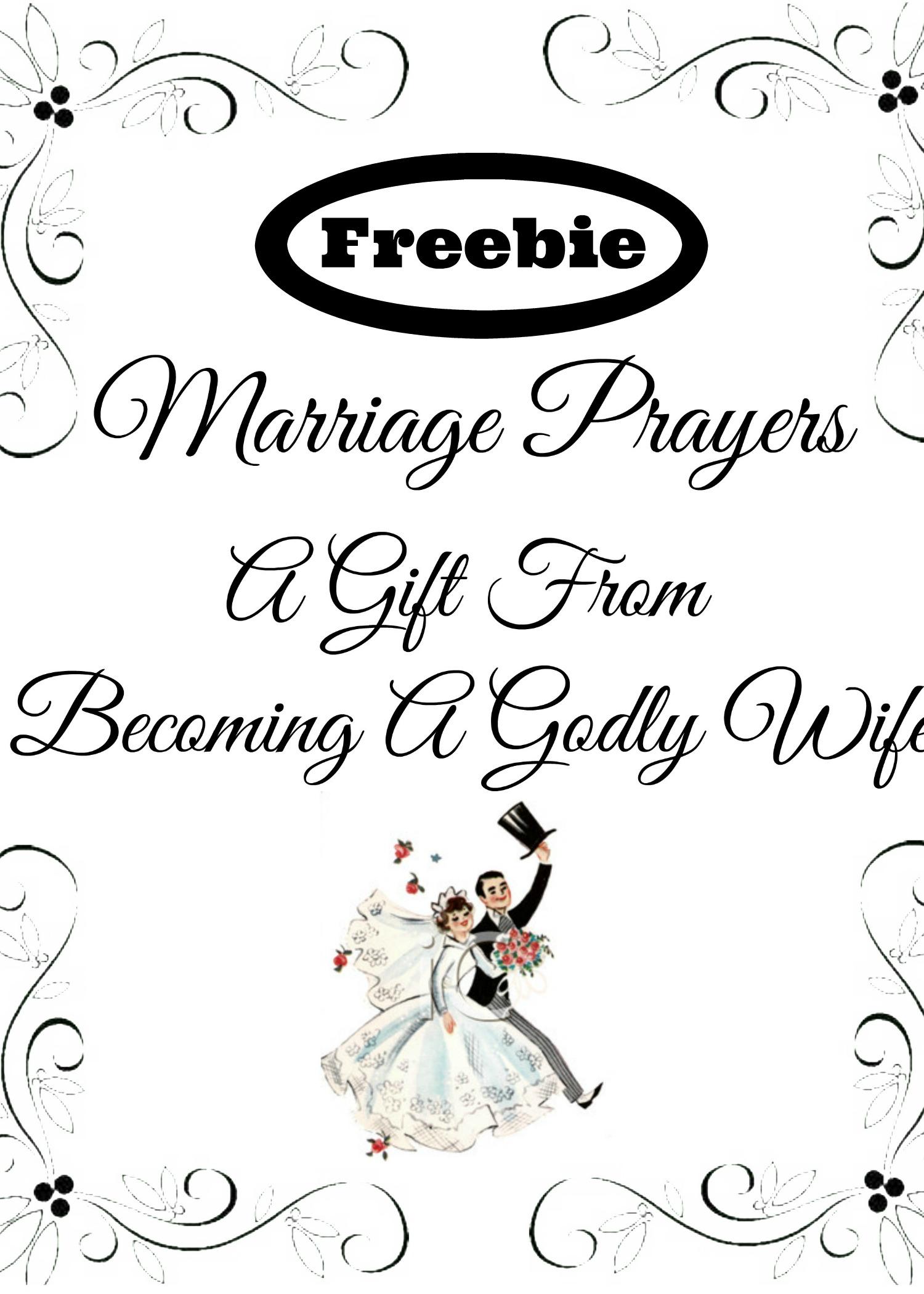 Marriage Prayer Cards Freebie