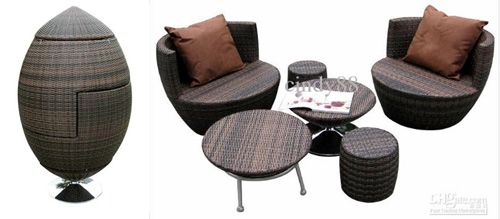 Creative Patio Furniture for Small Spaces  Little House