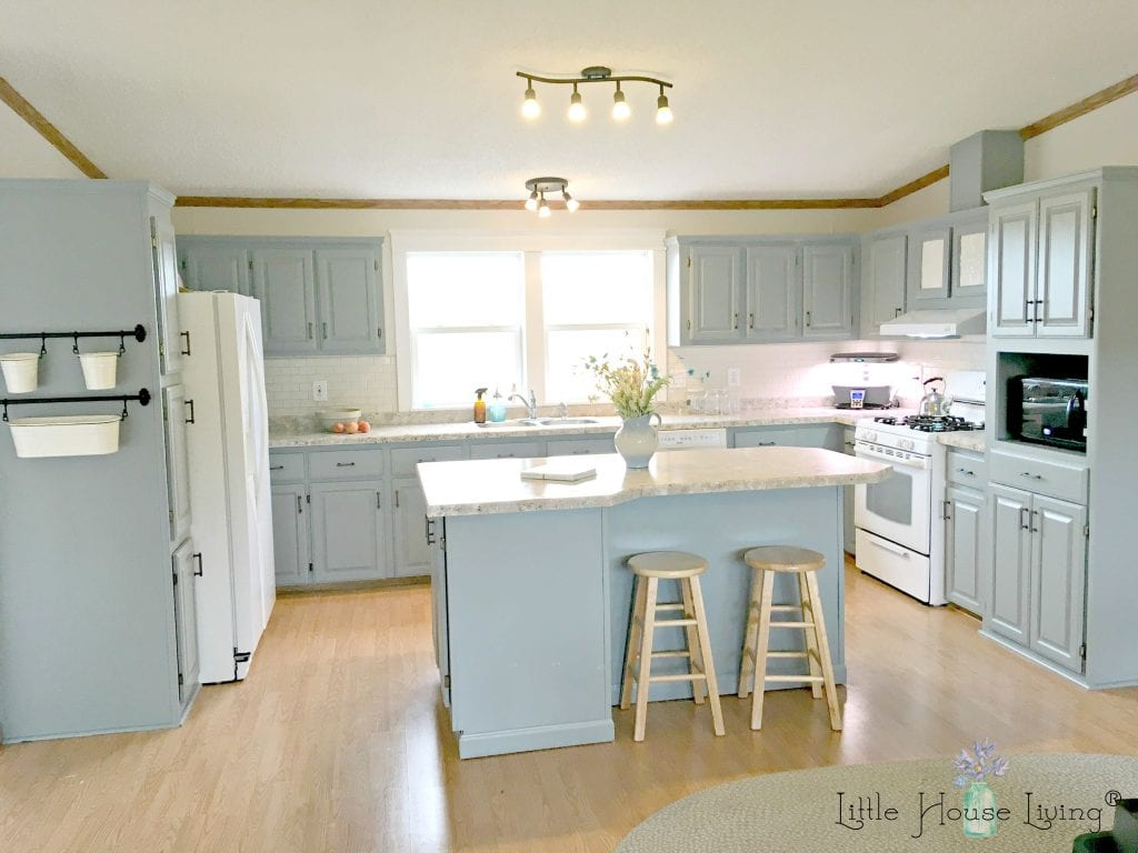 kitchen cabinet makeover kit yellow pine cabinets complete frugal for less than $500