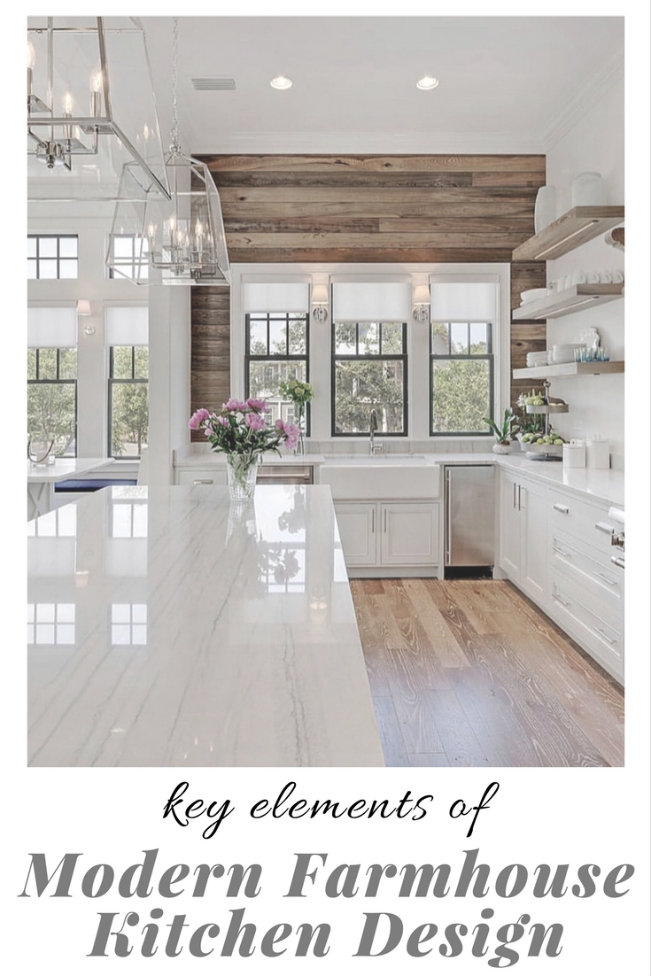 Key Elements Of Modern Farmhouse Kitchens Little House Of Could