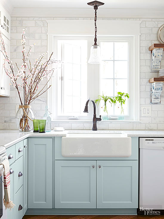 White Appliances as a design feature in the kitchen - little ...
