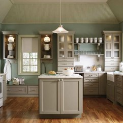 White Appliances Kitchen Cabinet Boxes As A Design Feature In The Little House Khaki Cabinets With