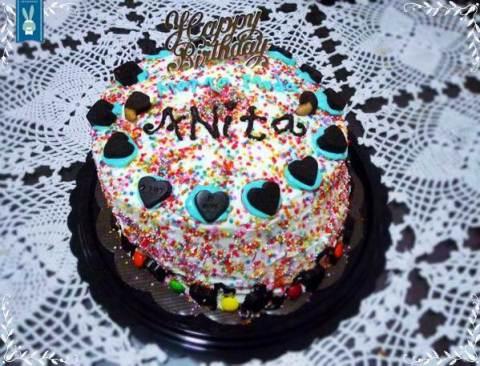 anita bday cake