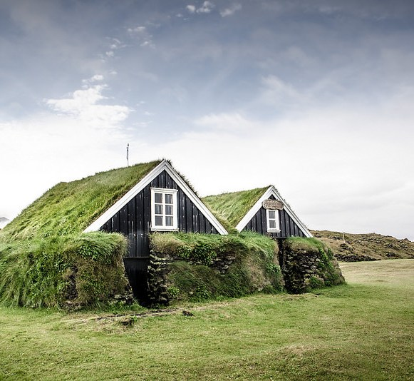 Traditionnal house, Iceland