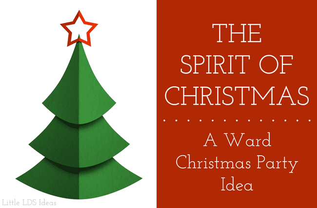 LDS Christmas Ward Party idea. This Ward Christmas Party idea from Little LDS Ideas is great! Includes everything you need to begin planning.