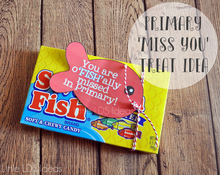 Miss You Treat Tags and Idea. This We Miss You Tag and Treat Idea is such a cute way to let someone know that you have missed them. Free printables from Little LDS ideas