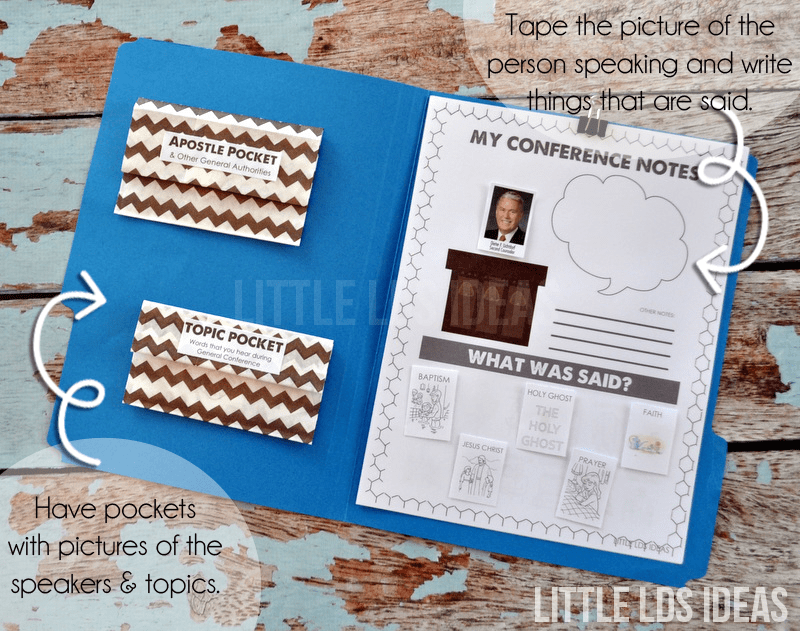 {General Conference} My Conference Notes: File Folder ...