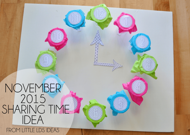 Service Sharing Time Idea from Little LDS Ideas. This Service Punch-A-Box Clock is so cute, and will be so much fun!