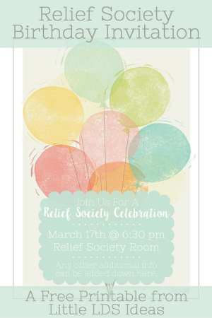 Relief Society Celebration