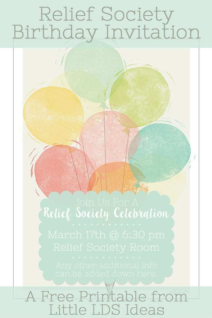 Relief Society Birthday Celebration pic