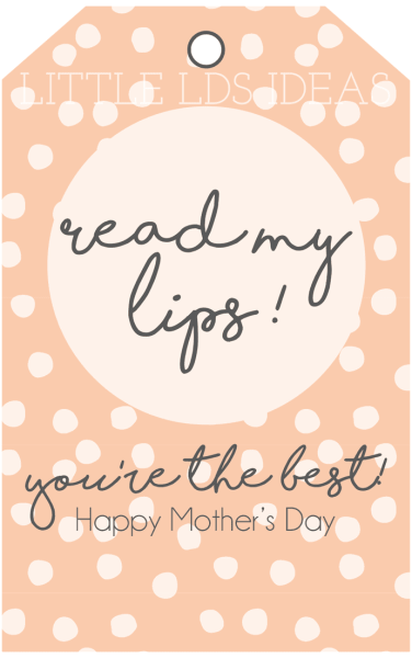 Mother's Day Chapstick Tag
