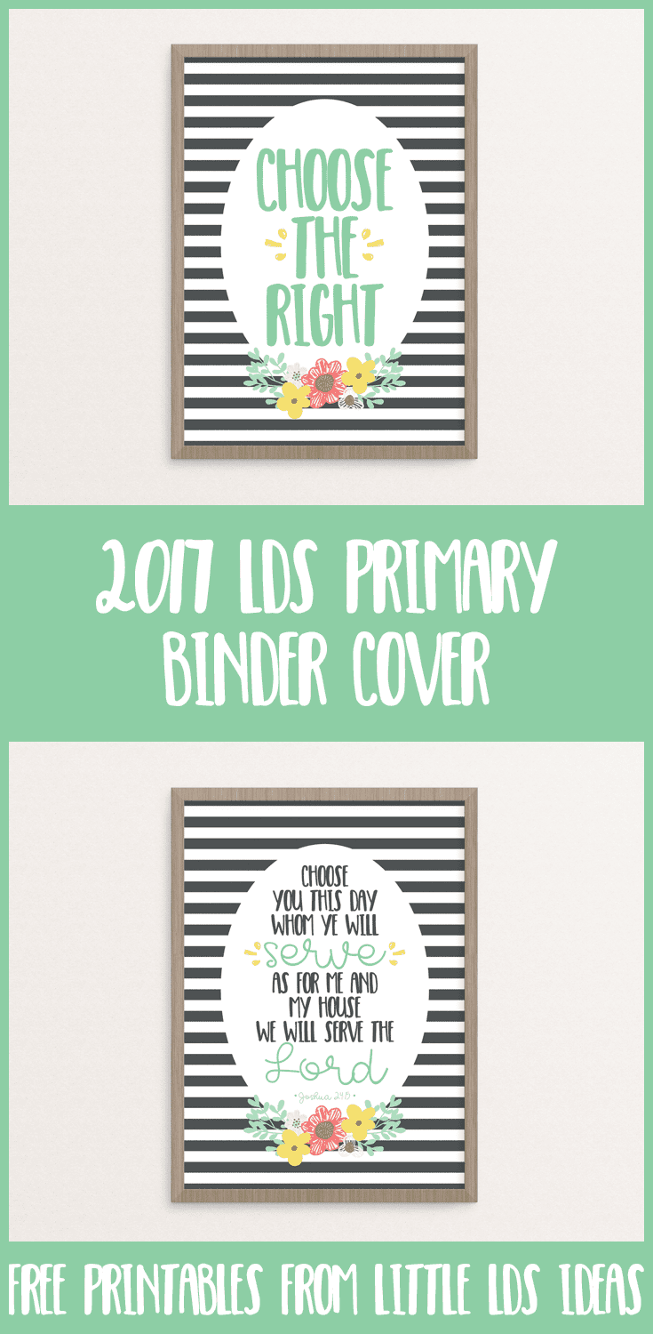 207 Lds Primary Binder Covers From Little Lds Ideas Choose The Right