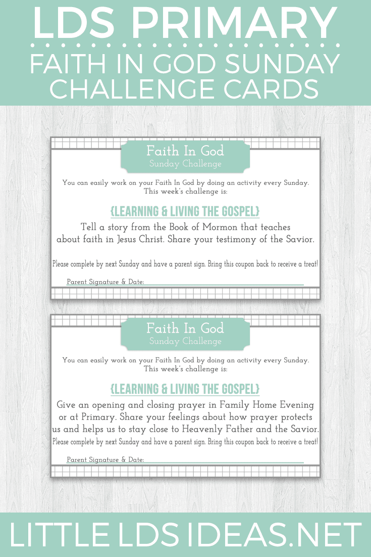 Faith In God Archives - Little LDS Ideas