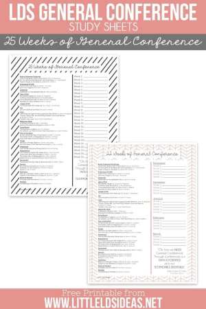 LDS 25 Weeks of General Conference Study Guide