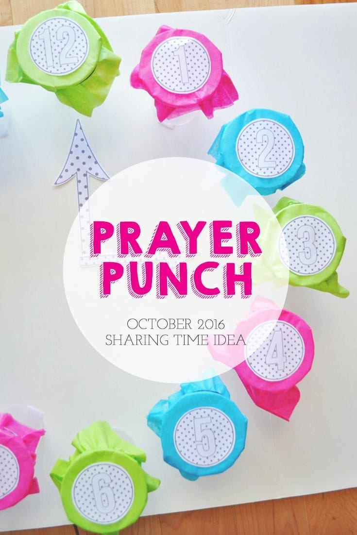 The Scriptures Teach Me How and When to Pray, October 2015 Sharing Time Idea. This Prayer Punch activity is perfect for your October 2016 Sharing Time lesson. Lesson, tutorial, and printables found on Little LDS Ideas.