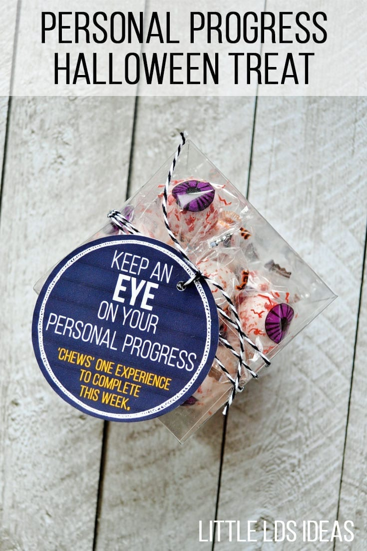 Encourage the YW in your ward to work on their Personal Progress with this fun Halloween Personal Progress Idea from Little LDS Ideas.