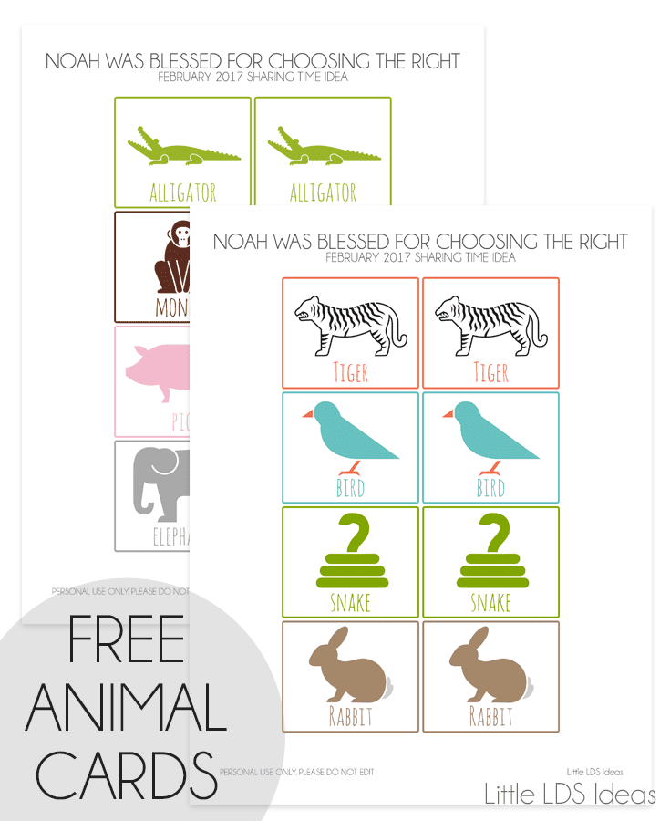 Noah's Ark Animal Cards
