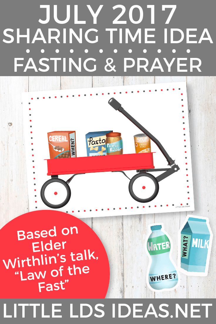July 2017 Sharing Time Idea. Fasting and Prayer Can Strengthen My Testimony. Free printables and lesson idea included!