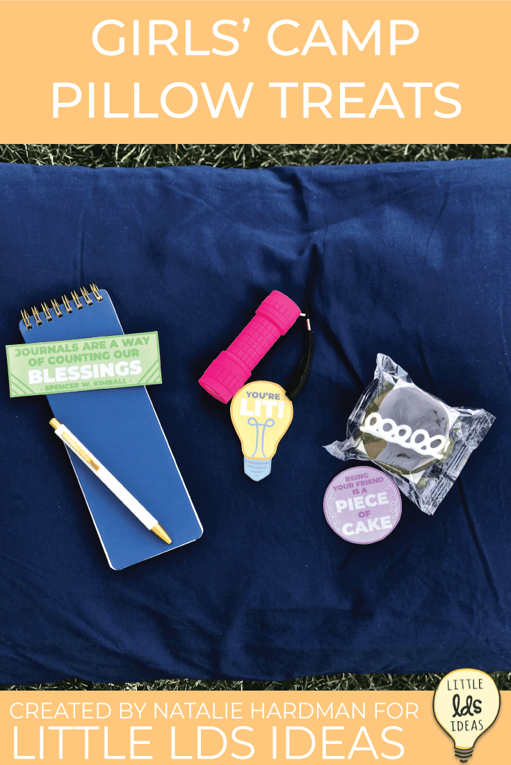Going to Girls' Camp this year?  These Girls' Camp Pillow Treats are guaranteed to make fellow campers smile.  10 different designs, 100% free! #LDSPrintables