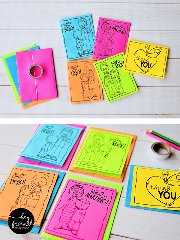 Teacher Thank You Cards From Hey Friend And Little Lds Ideas