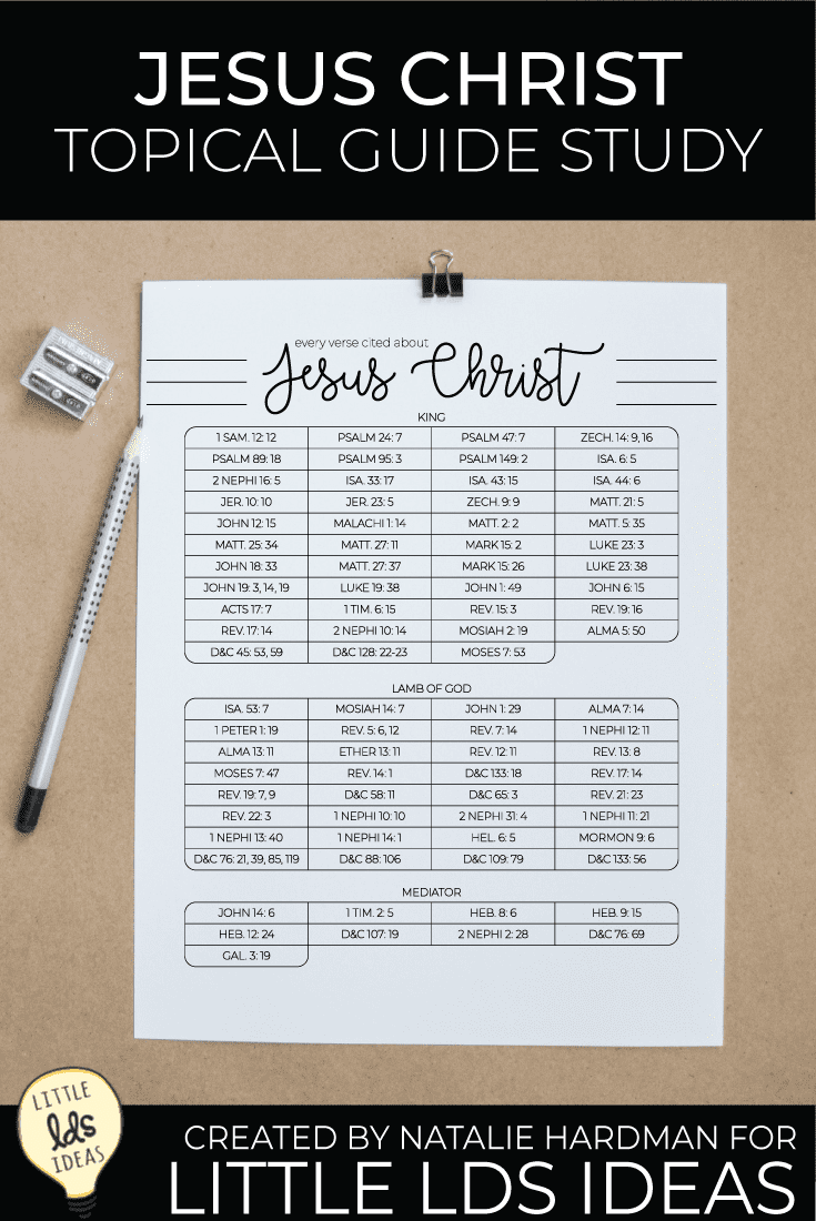 Begin your Jesus Christ Topical Guide Study to draw the power of the Savior into your life. Use these FREE study sheets to guide and track your efforts. #LDSprintables #sharegoodness